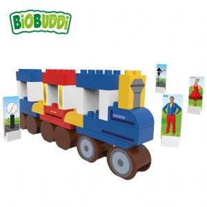 BiOBUDDi - Train - Eco Friendly Block Set - 41 Blocks